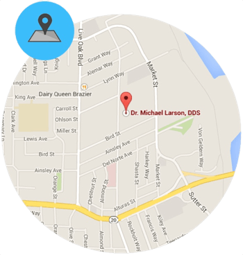 yuba city orthodontics location map